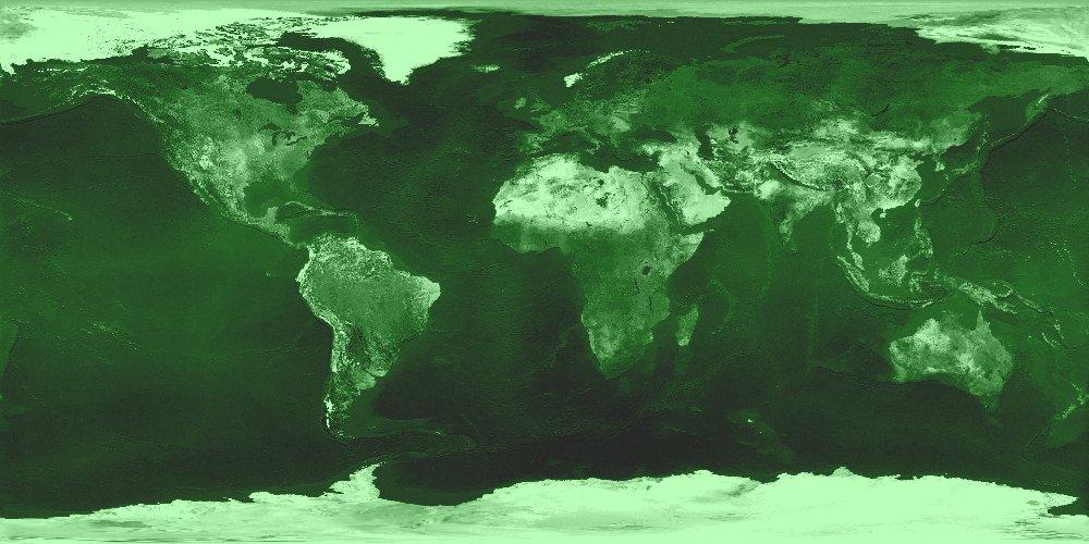 Physical green tone world map B3 | Free world maps